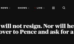 美媒:特朗普没有辞职计划